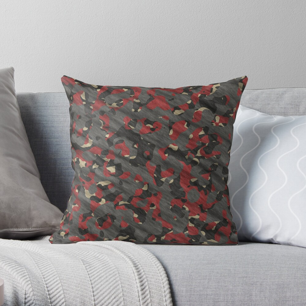 Decorative products with camouflage Throw Pillow