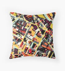 ABSTRACT MAP OF SOMERVILLE MA Floor Pillow