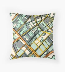 ABSTRACT MAP OF BOSTON SOUTH END Floor Pillow