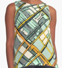 ABSTRACT MAP OF BOSTON SOUTH END Sleeveless Top