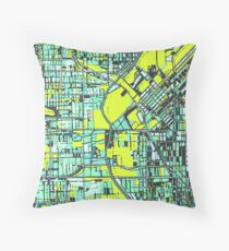 ABSTRACT MAP OF DENVER, CO Floor Pillow