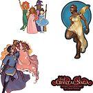 The Crystal Saga Webcomic - Patron Sticker Pack by GwenPhifer