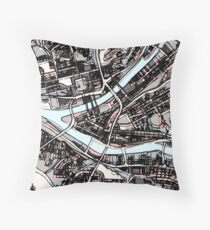 ABSTRACT MAP OF PITTSBURGH, PA Floor Pillow