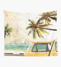 Hippie van - Surf, Strand, HQ-Qualität Wandbehang