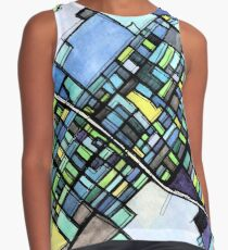 ABSTRACT MAP OF STATE COLLEGE, PA Sleeveless Top