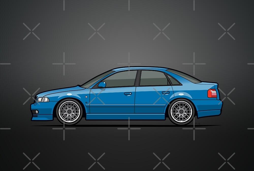 Audi A4 Quattro B5 Sedan Nogaro Blue by Tom Mayer