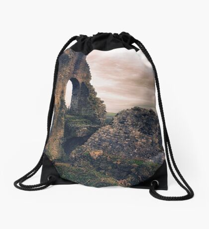 Defeated by Time Drawstring Bag