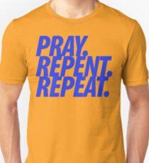 PRAY REPENT REPEAT BLUE Unisex T-Shirt