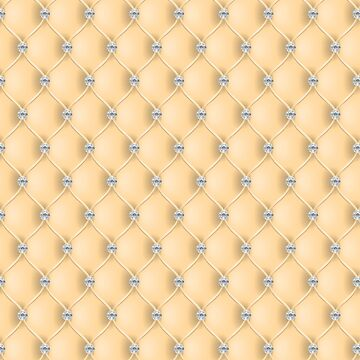 Elegant Sunflower Yellow Diamond Tufted Look Upholstery Pattern by jollypockets