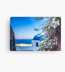 Greek Islands Santorini and wine Metal Print