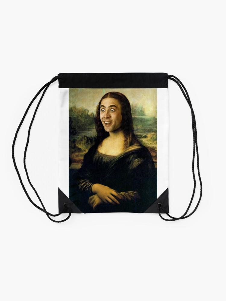 Alternative Ansicht von Nicholas Cage Mona Lisa Turnbeutel