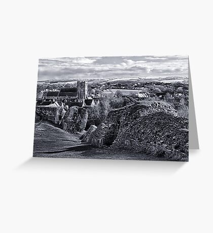View over Corfe Greeting Card