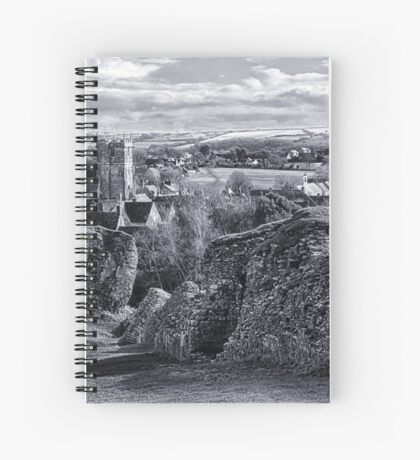 View over Corfe Spiral Notebook