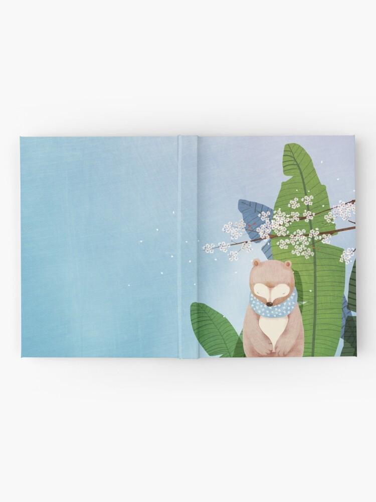 Alternate view of White Socks Series: Bear Under Sakura Blossom Hardcover Journal