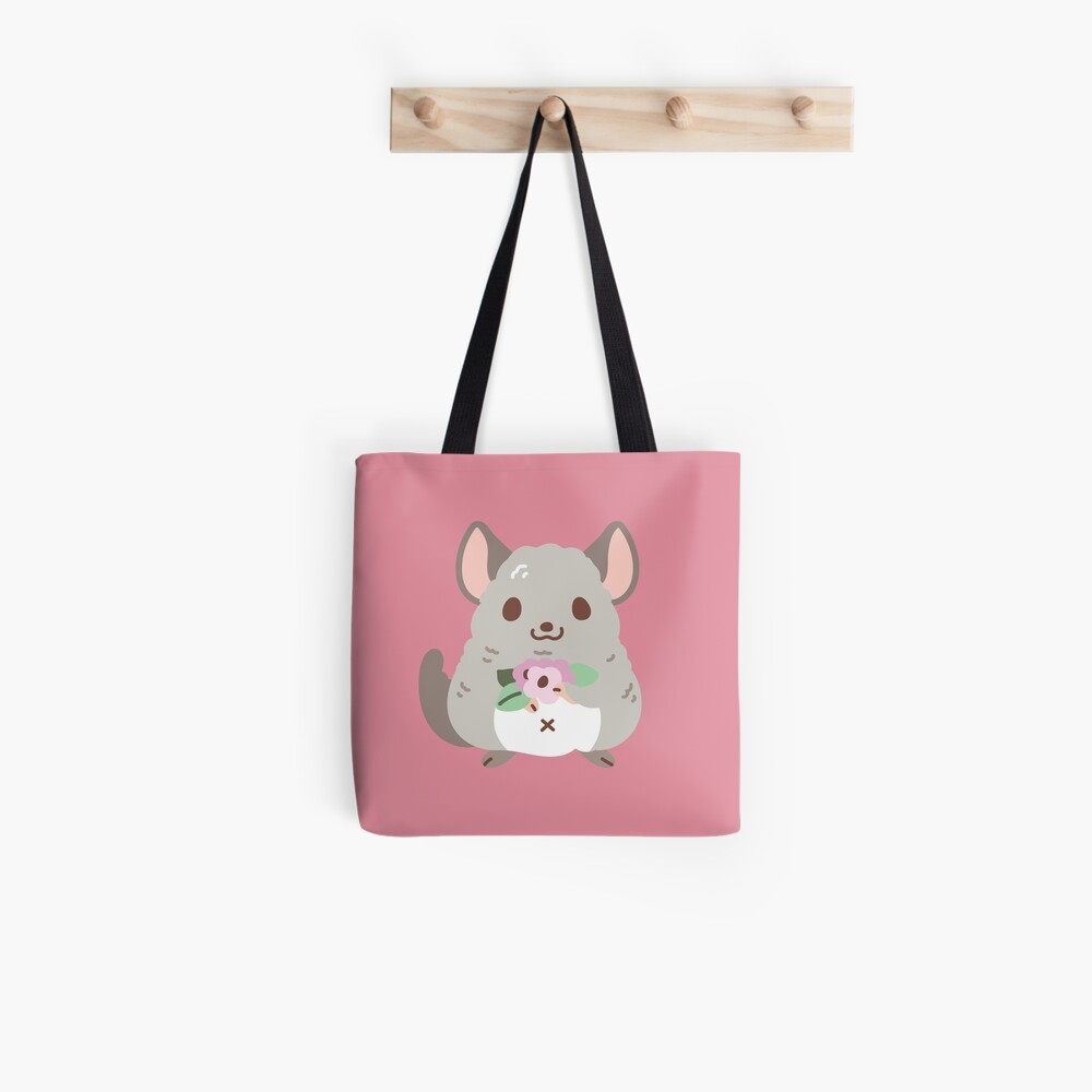 Chinchilla and flowers Pattern  Tote Bag
