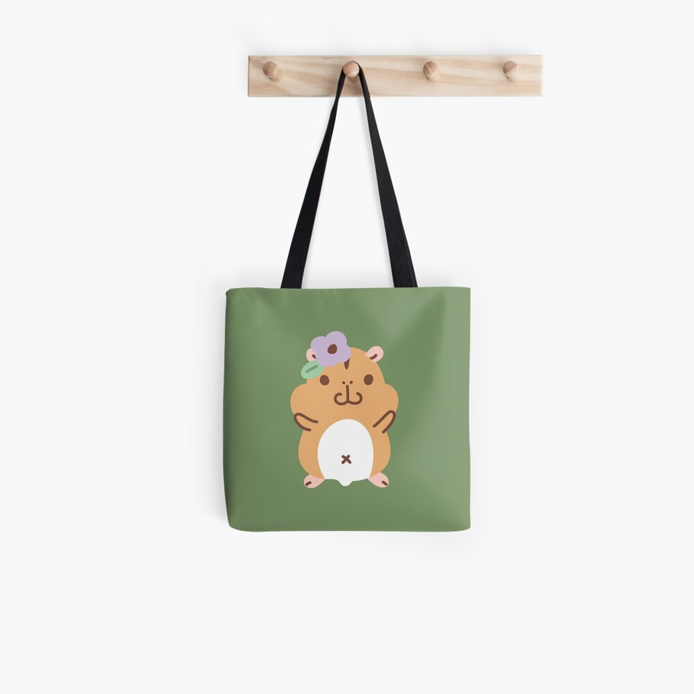 Hamsters and flowers Pattern  Tote Bag