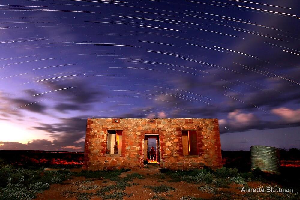 Star Trail Ruins by Annette Blattman