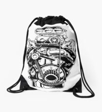 Supercharger B&W Drawstring Bag