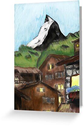Schatten des Matterhorns von IllustratedWrld