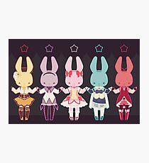 Puella Magi Bunny Magica Photographic Print