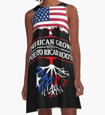 American Grown with Puerto Rican Roots   Puerto Rico Design A-Line Dress