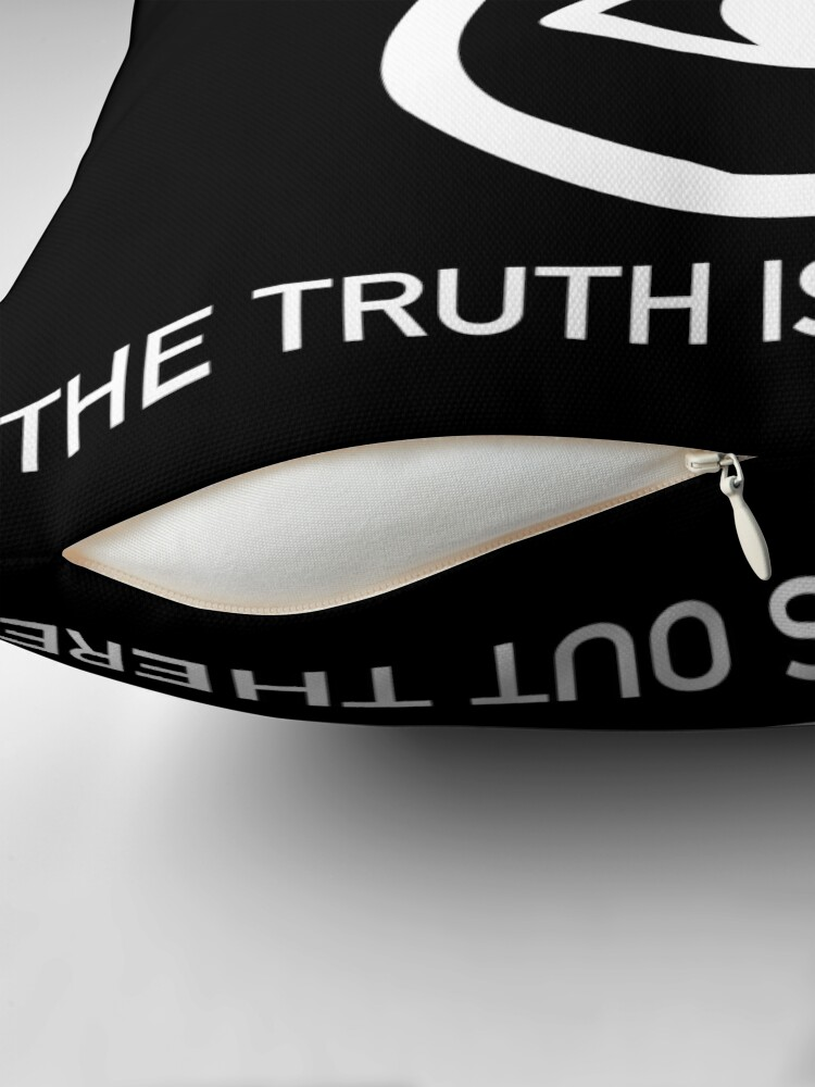 Alternate view of THE TRUTH IS OUT THERE (w) Throw Pillow