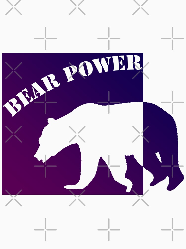 BEAR POWER PURP STYLE (colored) by Pentamoby