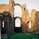 Lindisfarne Priory by Ian Lyall