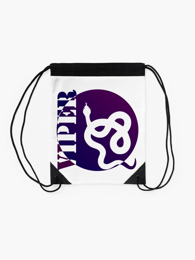Alternate view of VIPER PURP STYLE (colored) Drawstring Bag