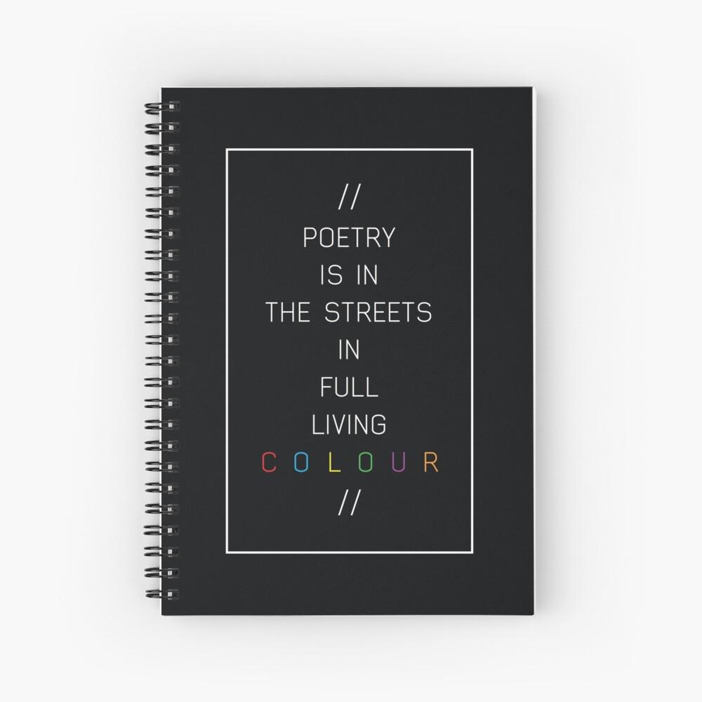 poesía en las calles Cuaderno de espiral
