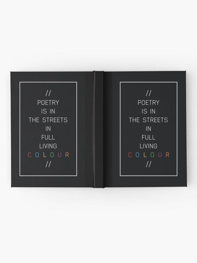 Alternative Ansicht von Poesie in den Straßen Notizbuch