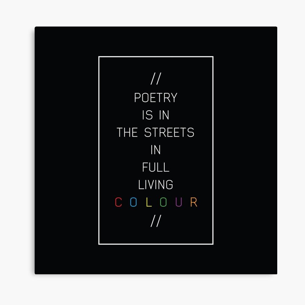 poesía en las calles Lienzo
