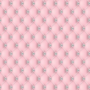 Elegant Light Pink Diamond Tufted Look Upholstery Pattern by jollypockets