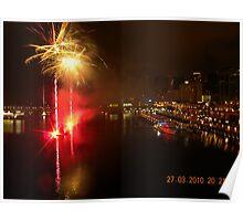 Fireworks display at Darling Harbour Poster