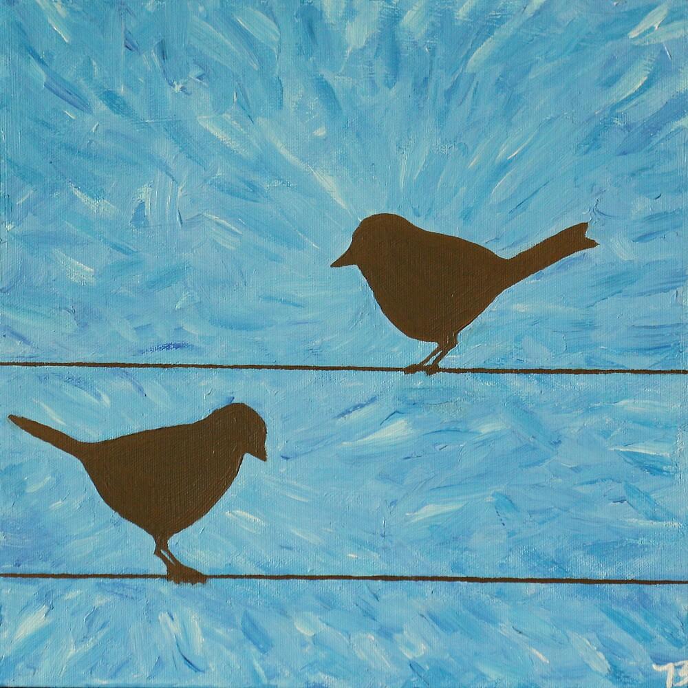 Bird on a wire by brianaelizabeth