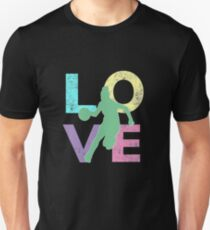 Cute & Cool Basketball LOVE Gift for Women & Girls Slim Fit T-Shirt