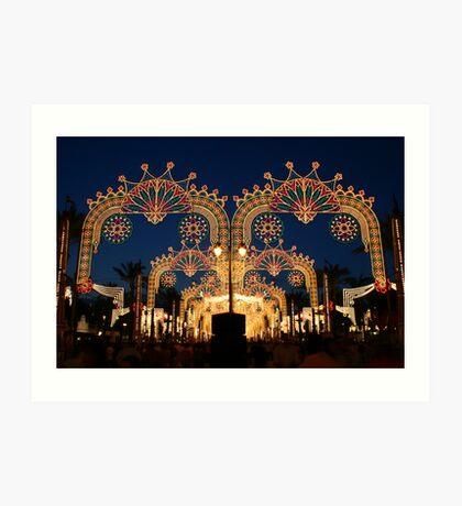 feria lights in Jerez de la Frontera, Spain  Art Print