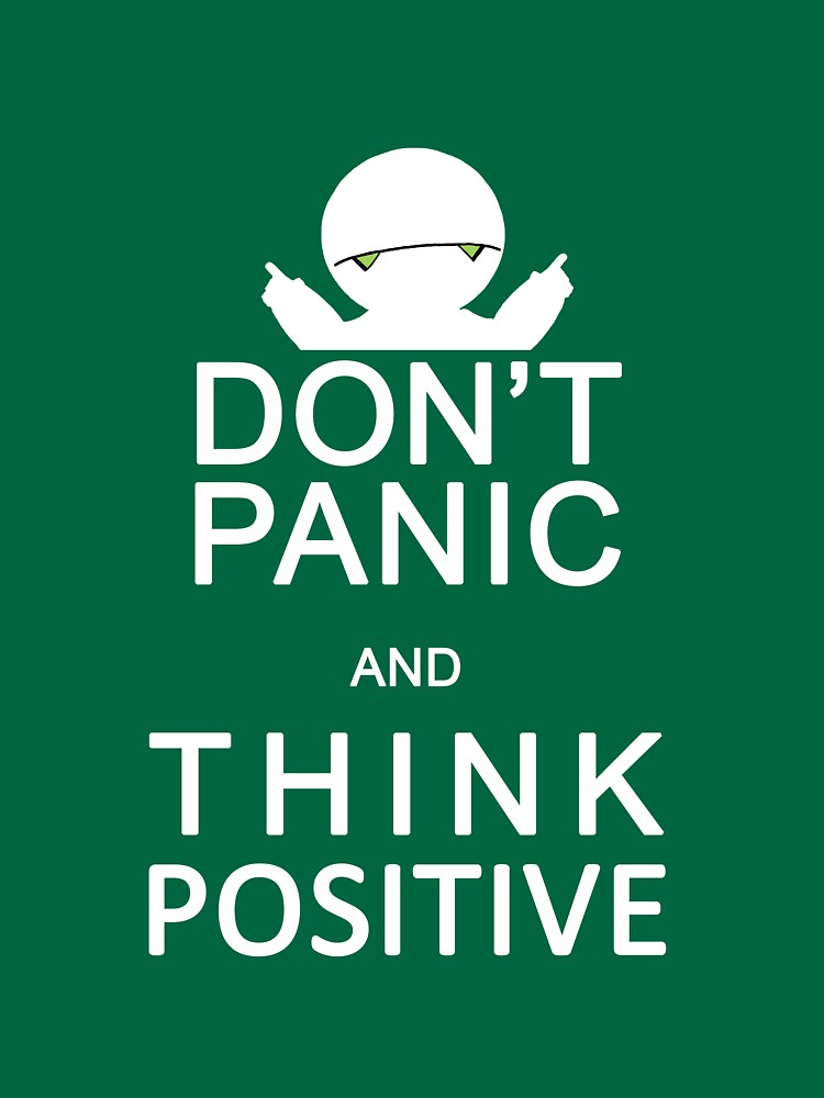 Marvin the Paranoid Android - Don't panic and think positive. von logosandpathos