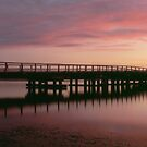 Sunset  Wallaga Lake Bridge by Brett Thompson