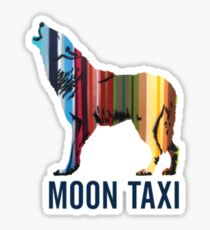moon taxi Sticker