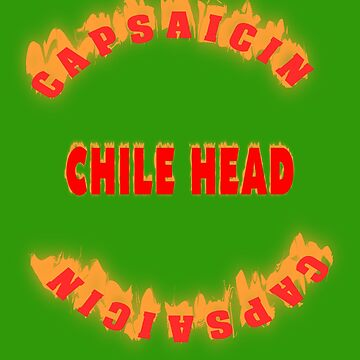 Capsaicin. Chile Head by Live-Counter