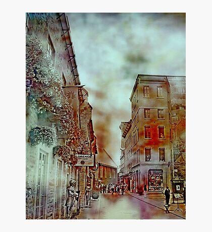 Streets of Quebec City  Photographic Print