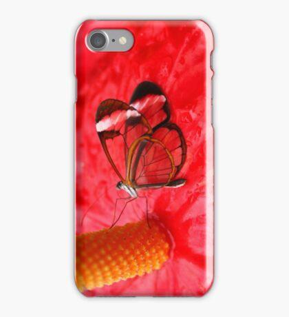 Glasswing on Anthurium iPhone Case/Skin