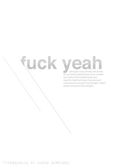 fuck yeah helvetica by MarcoGurrieri