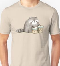 Raccoon on Bongos T-Shirt