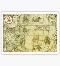 Sea Monsters Map Sticker