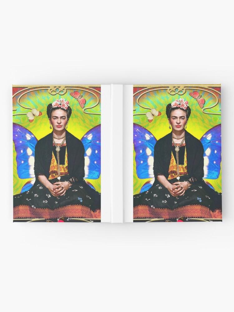 Alternative Ansicht von Frida (Schmetterlinge) Notizbuch