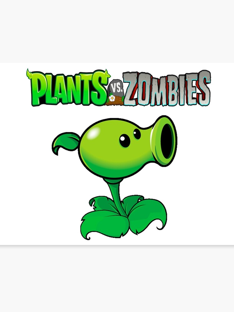 Plants VS Zombies | Peashooter design hd | Canvas Print