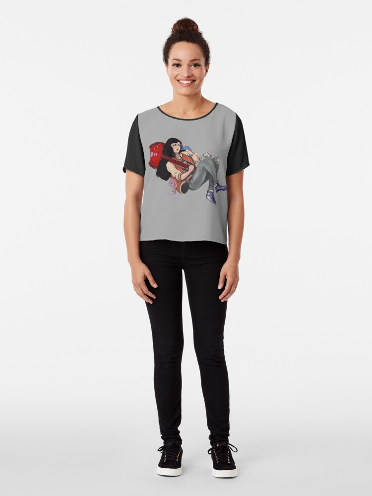 Alternate view of Marceline The Vampire Queen  - On The Phone Chiffon Top