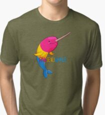 Pansexuwhale - with text Tri-blend T-Shirt